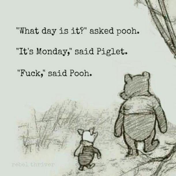 monday memes winnie the pooh