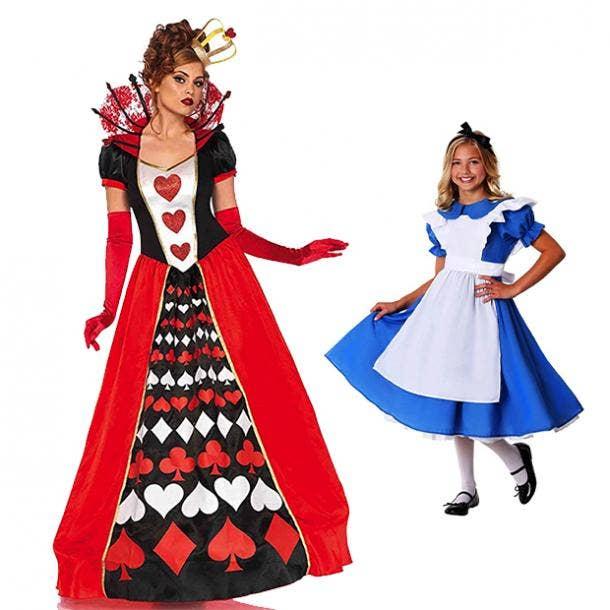 mother daughter halloween costumes alice in wonderland queen of hearts
