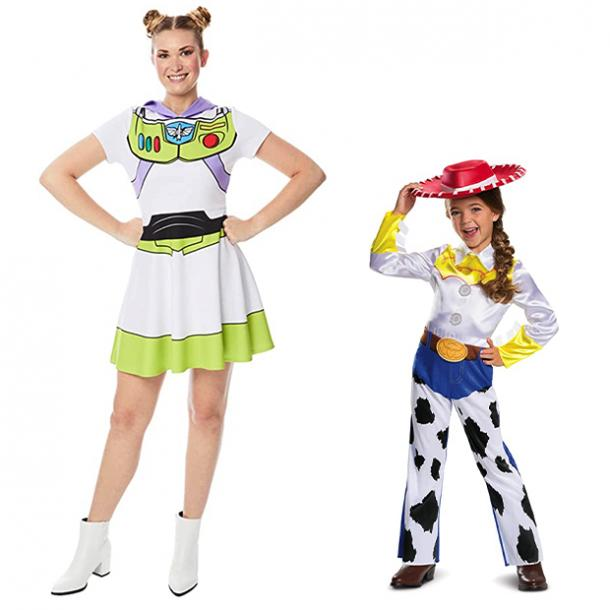 mother daughter halloween costumes buzz lightyear jessie toy story