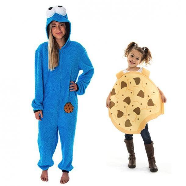 mother daughter halloween costumes cookie monster cookie