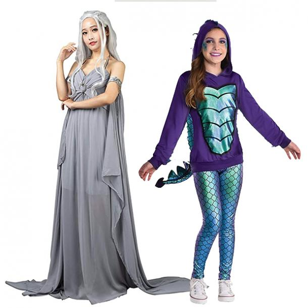 mother daughter halloween costumes daenarys and dragon