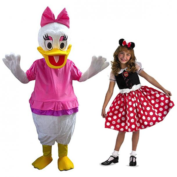 mother daughter halloween costumes daisy duck minnie mouse