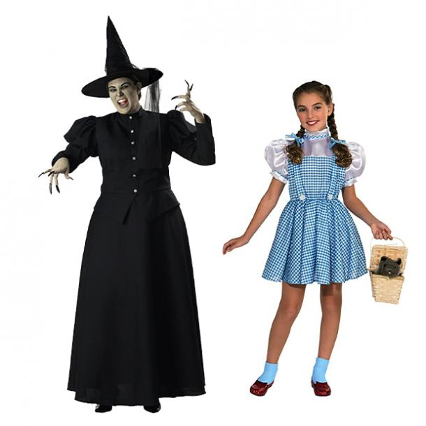 mother daughter halloween costumes wicked witch of the west dorothy wizard of oz