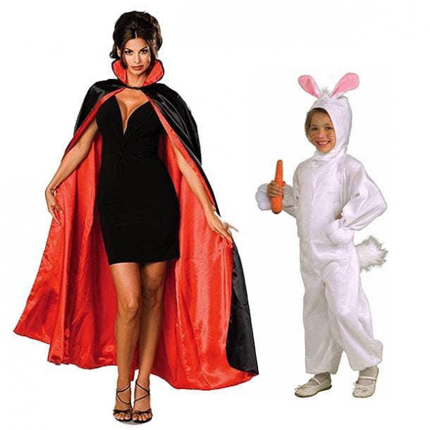 mother daughter halloween costumes magician rabbit