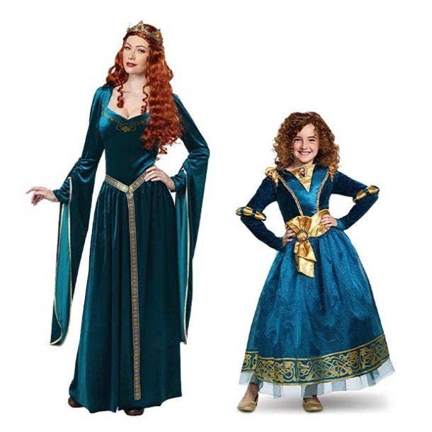 mother daughter halloween costumes merida queen elinor brave