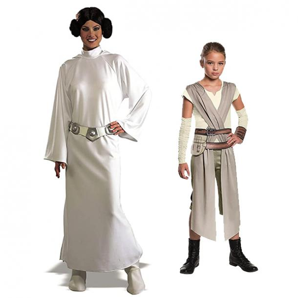 mother daughter halloween costumes princess leia rey