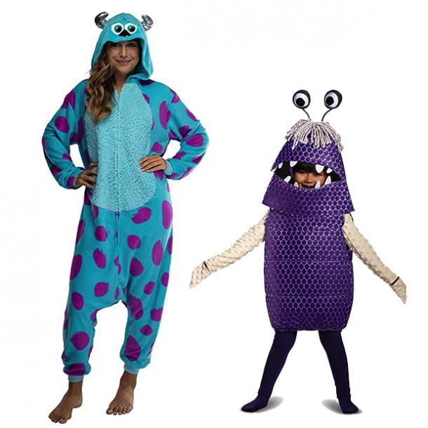 mother daughter halloween costumes sully boo monsters inc