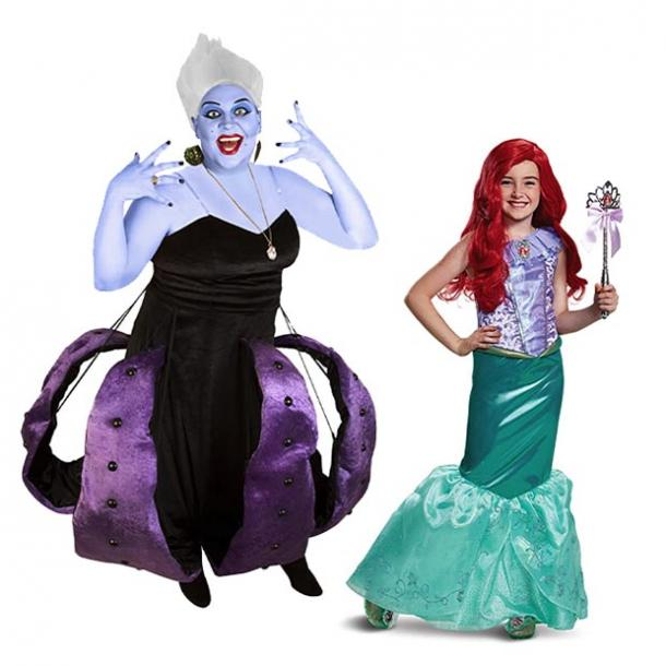 mother daughter halloween costumes ursula ariel the little mermaid