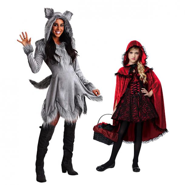 mother daughter halloween costumes little red riding hood wolf