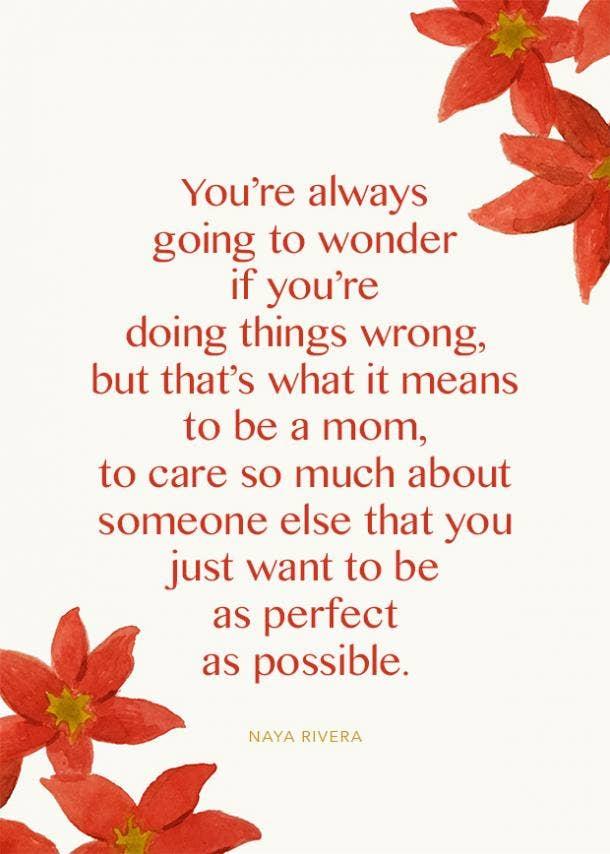 naya rivera motherhood quote