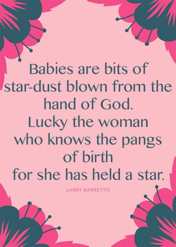 larry barretto motherhood quote