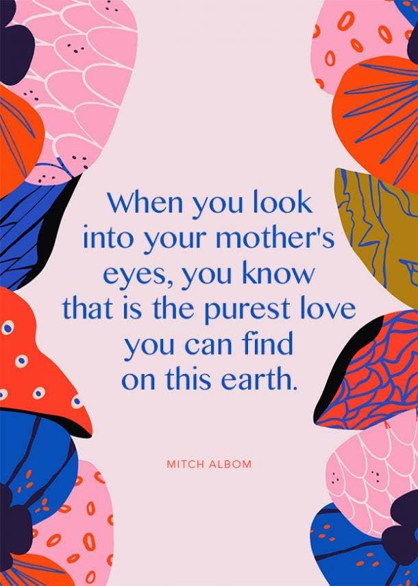 mitch albom motherhood quote