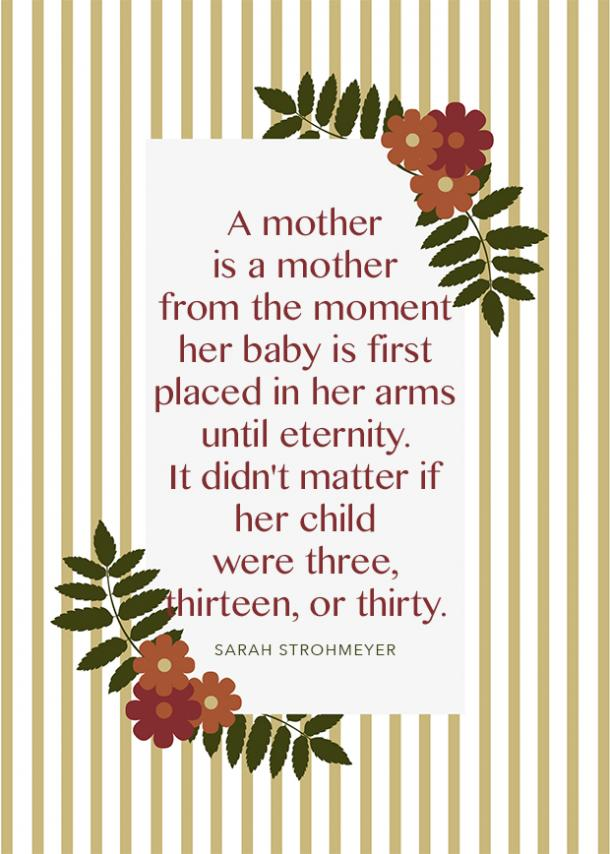 sarah strohmeyer motherhood quote
