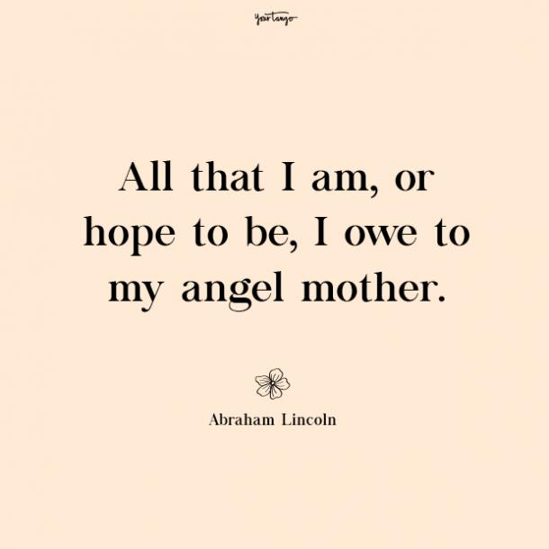 Abraham Lincoln missing mom quotes