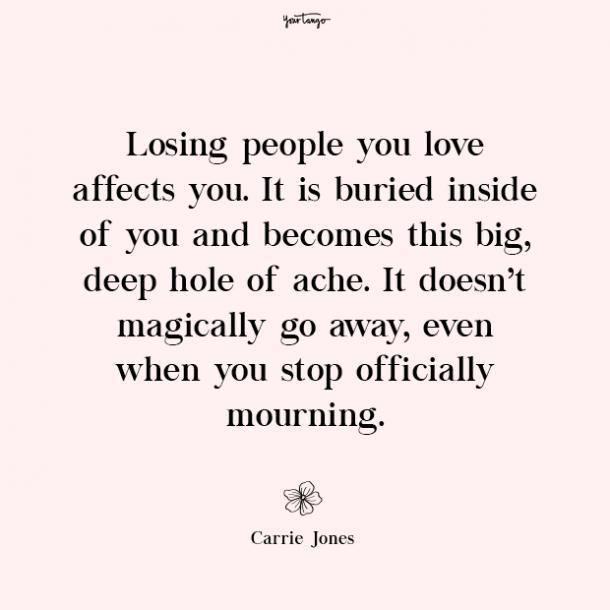 Carrie Jones missing mom quotes