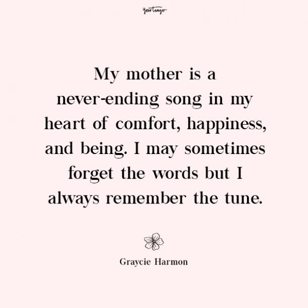 Graycie Harmon missing mom quotes