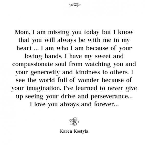 Karen Kostyla missing mom quotes