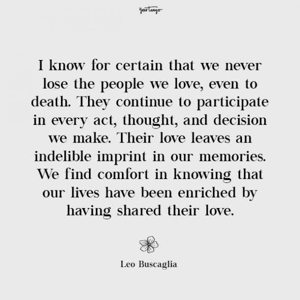 Leo Buscaglia missing mom quotes