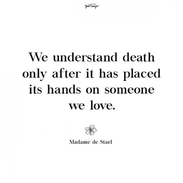 Madame de Stael missing mom quotes