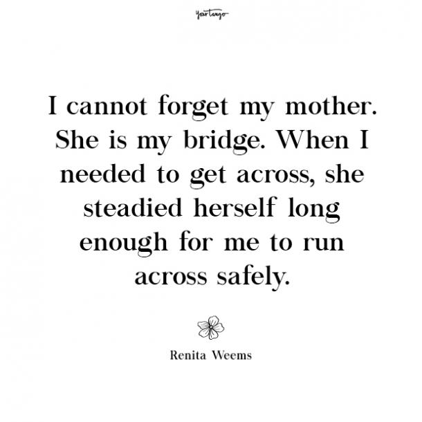 Renita Weems missing mom quotes