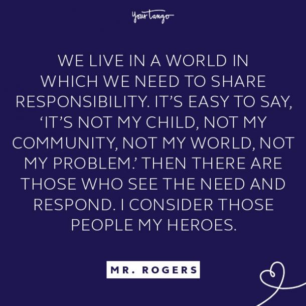 Mr. Rogers quote about community