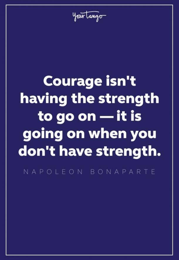 napoleon bonaparte quote about courage