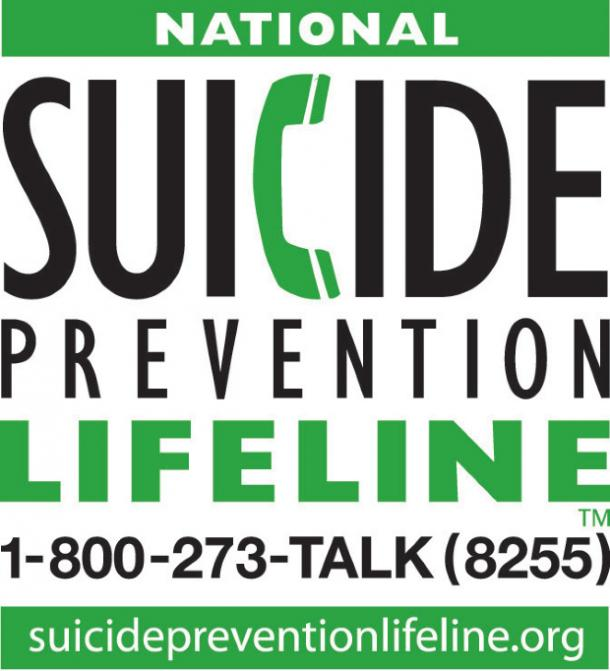 National Suicide Prevention Lifeline contact information