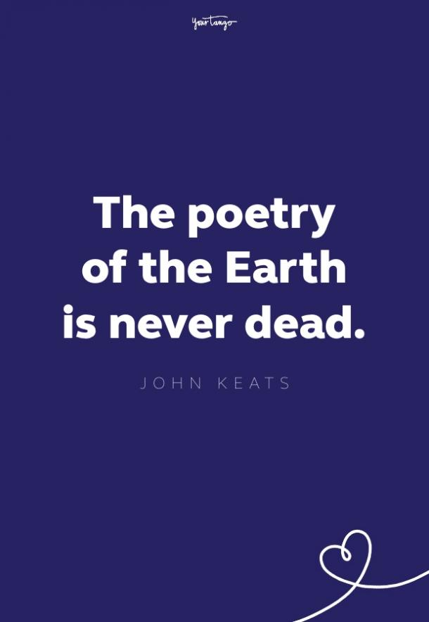 john keats quote about nature