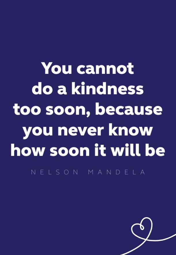 nelson mandela kindness quote