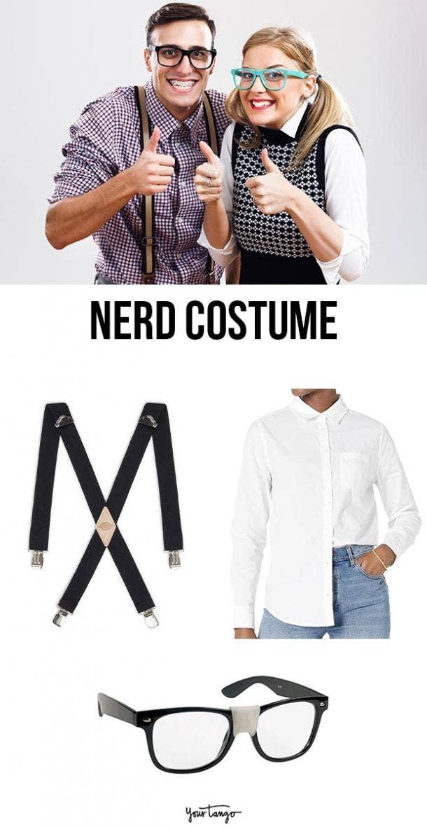 nerd last minute halloween costumes