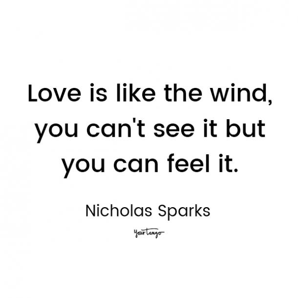 nicholas sparks love quote for him