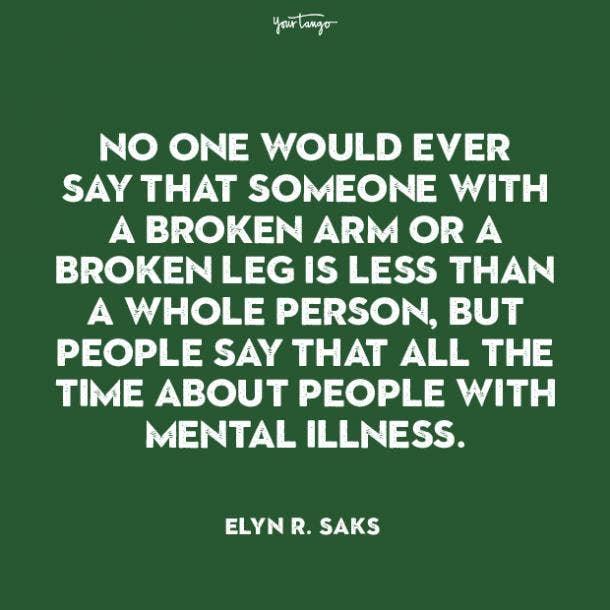 Elyn R. Saks mental health quote