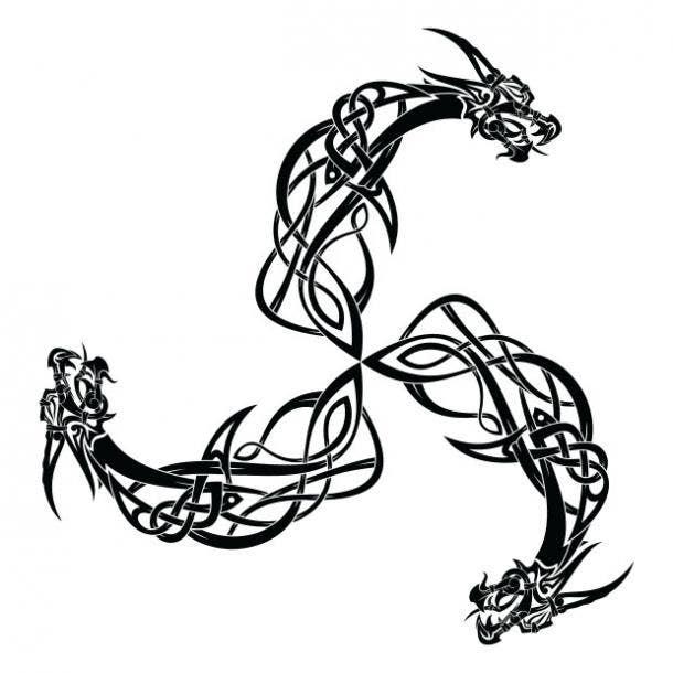 Norse dragon tattoo
