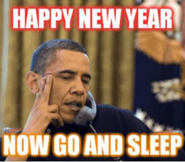 Obama funny new year meme