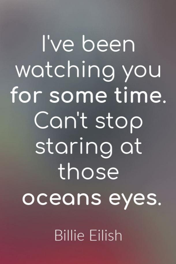 Ocean Eyes love song lyrics