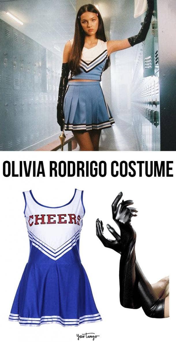 "Olivia Rodrigo ""Good 4 U"" Blue Cheerleader Outfit"