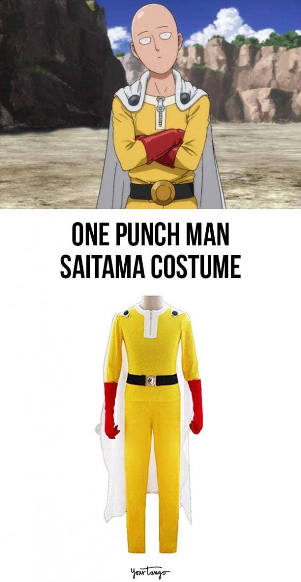 Saitama Yellow One Punch Man Halloween Costume
