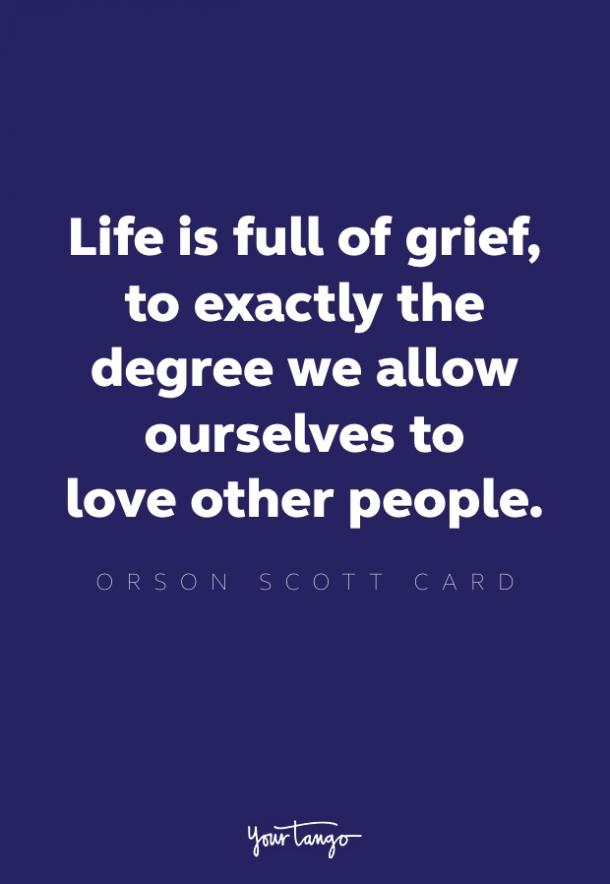 orson scott card shadow of the giant quote about grief