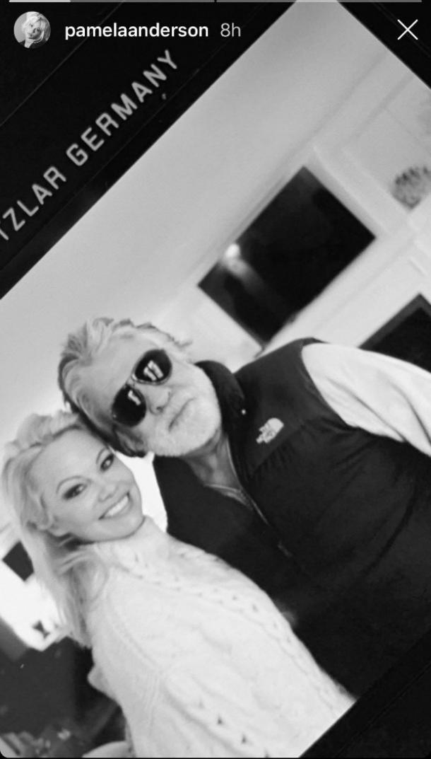 Pamela Anderson Jon Peters first picture on Instagram