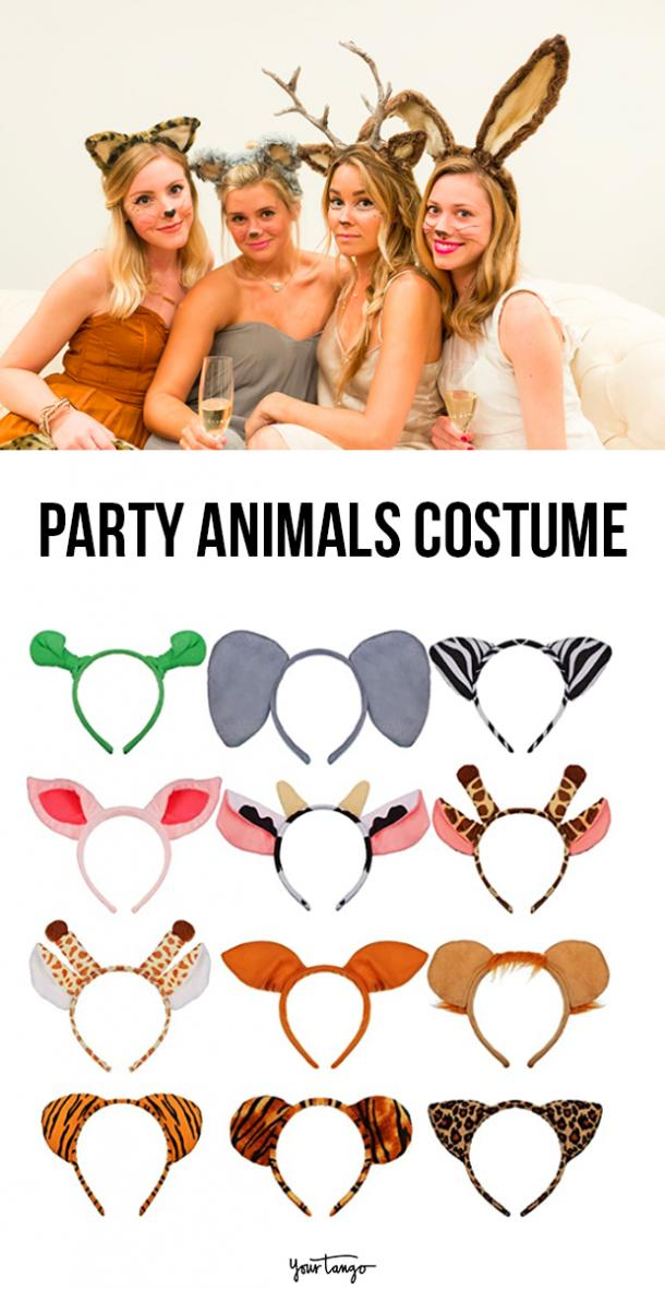 party animals last minute halloween costumes