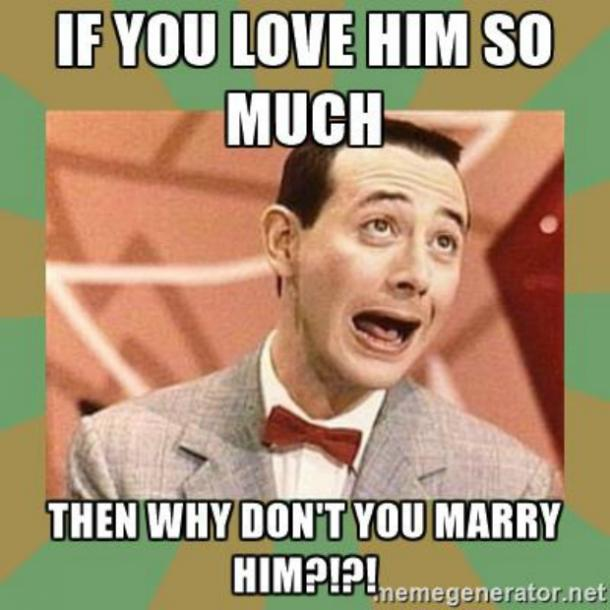 PeeWee Herman I love you meme
