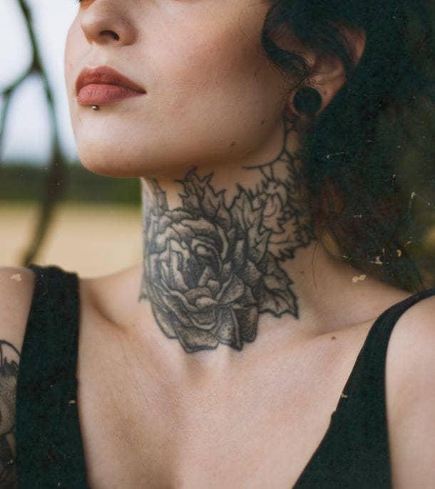 peony tattoo idea for women