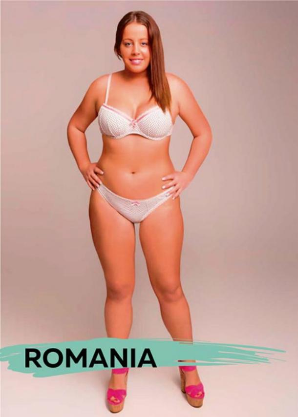 perfect female body types Romania