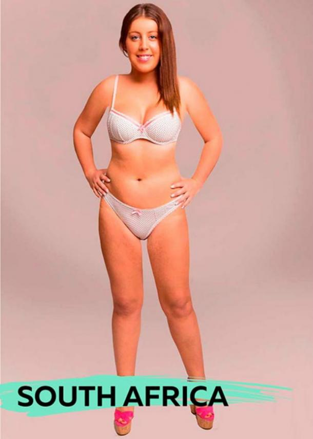 Perfect female body types South Africa