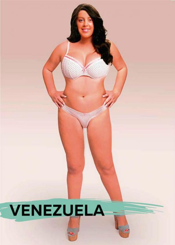 Perfect female body types Venezuela