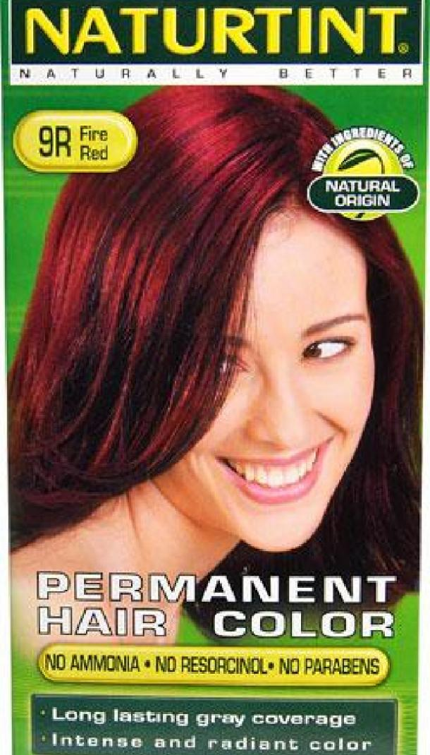 Permanent Hair Color 9R Fire Red by Naturtint