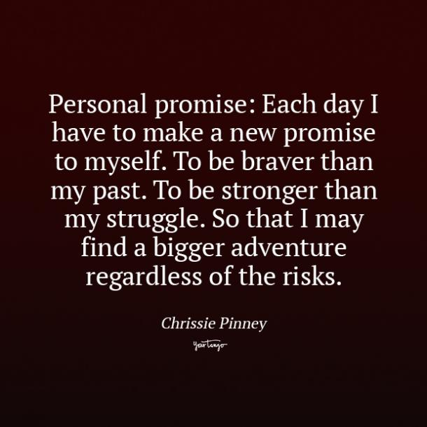 Chrissie Pinney promise quotes