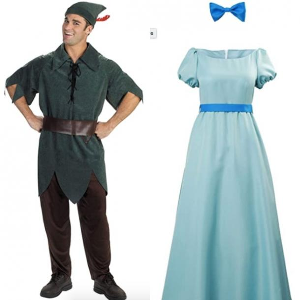 peter and wendy from peter pan couples costume
