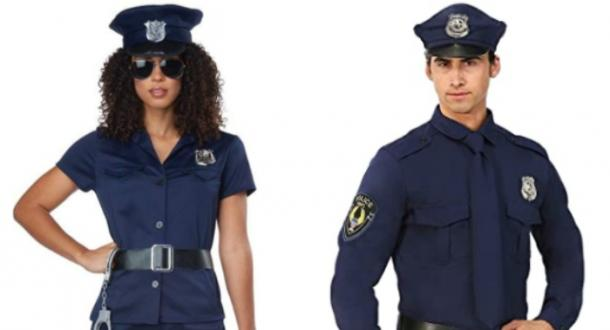 police couples costume