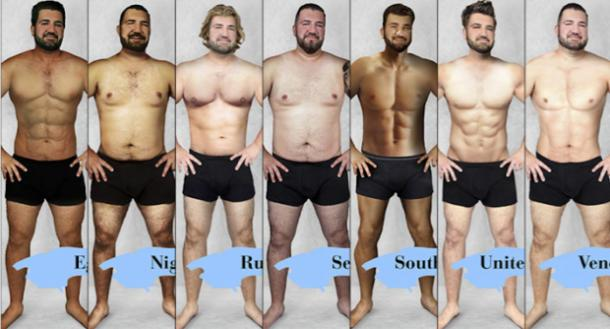 powerful male body types